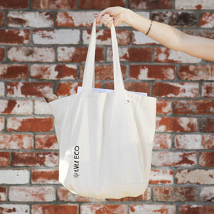ORGANIC CANVAS TOTE BAG WITH POCKETS