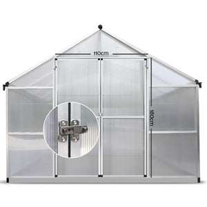 Green Fingers 4.1m x 2.5m Polycarbonate Aluminium Greenhouse- Pre Order End October