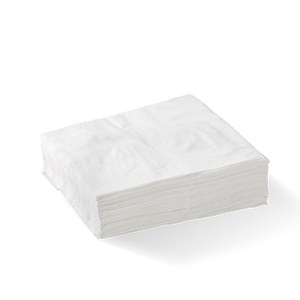 1 Ply 1/4 Fold White Lunch BioNapkin- 3000pcs