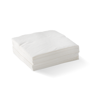 2 Ply White Corner Embossed Cocktail BioNapkin- Bulk 2000pcs