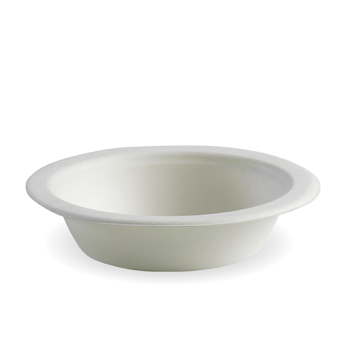 16oz White BioCane Bowl- 1000pcs