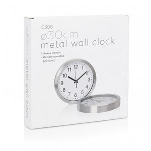 Wall Clock 30cm Steel- Eco R Us