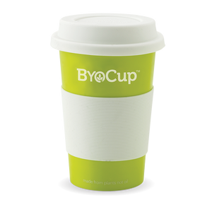 16oz Green ByoCup made from bioplastic, derived from plants not oil.... BPA FREE-While Stocks Last- Bulk- 24 Units