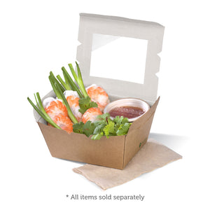 Small BioBoard Lunch Box With Window- 200pcs