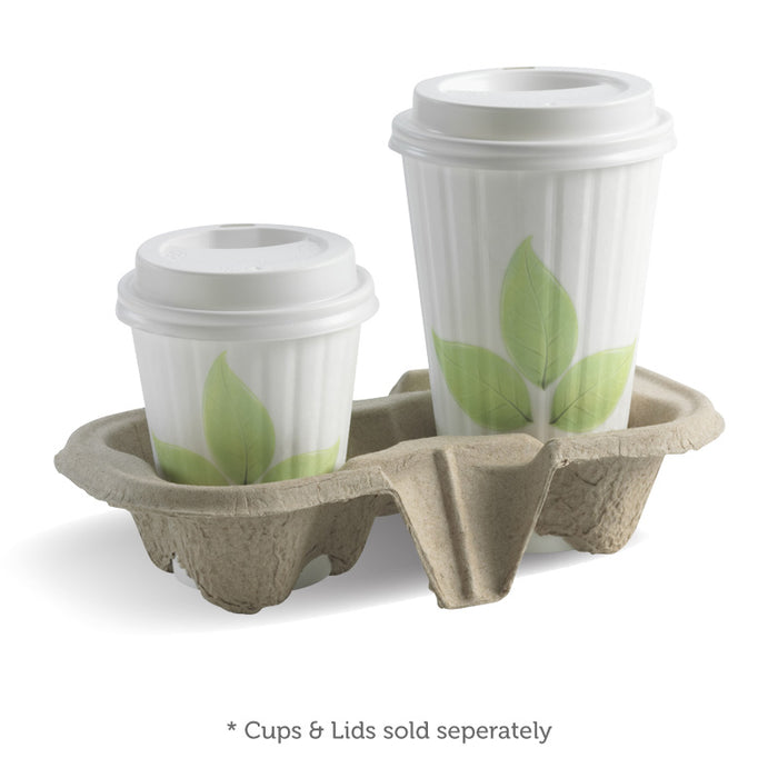 2 Cup BioCup Tray - Bulk Buy- 500pcs