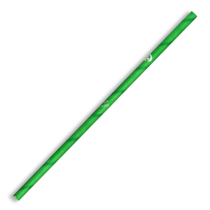 6mm Regular Green BioStraw- 2500pcs