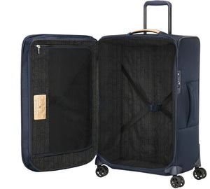 Samsonite Spark ECO Softside Medium 67 cm Spinner Suitcase  - Black/Blue