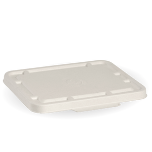 2 and 3 Compartment White Takeaway Base Lid- 500pcs