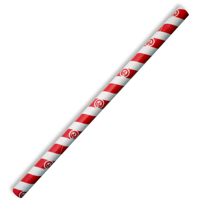 10mm Jumbo Red Stripe BioStraw- 2500pcs