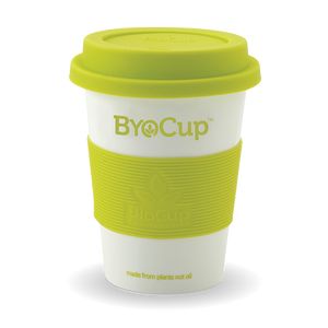 12oz White ByoCup made from bioplastic, derived from plants not oil.... BPA FREE-While Stocks Last- Bulk- 36 Units