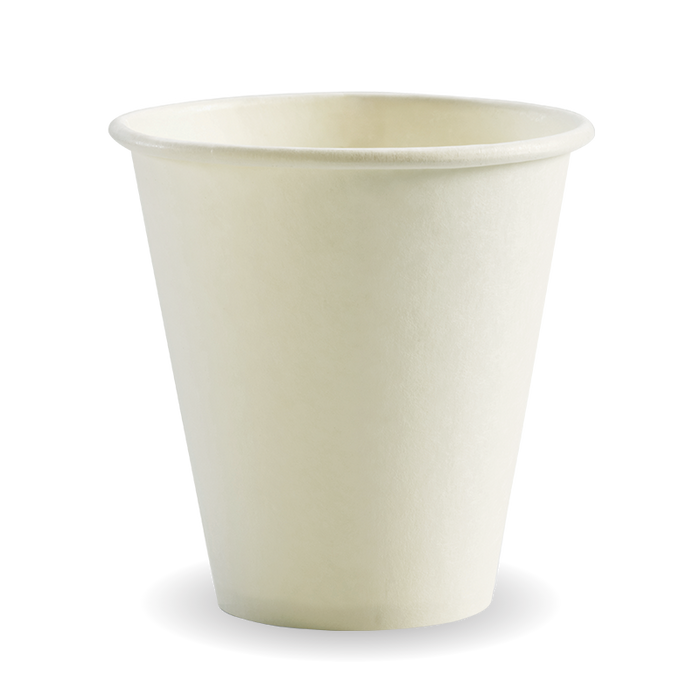 8oz (90mm) White BioCup - 1000 Cups