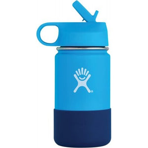 HYDRO FLASK Wide Mouth Kids Bottle - Straw Lid Double Insulated - Pacific 354ml