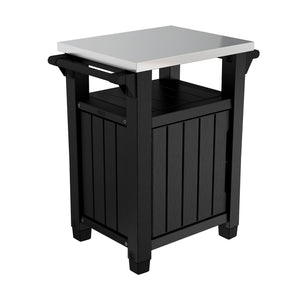 Keter Unity Outdoor Indoor Storage Entertainment Cabinet (Black)