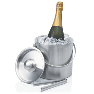 Ice Bucket Stainless Double Wall Contemporary - Eco R Us