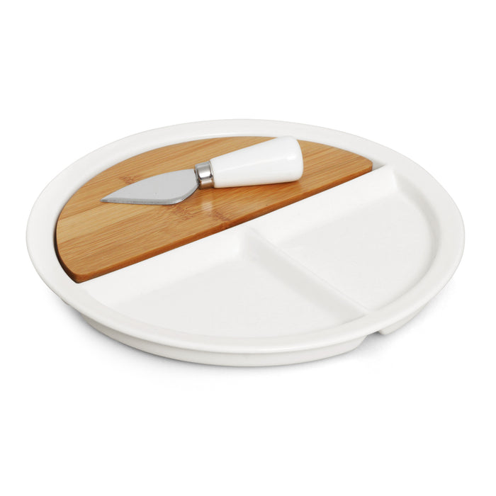 Cheese Set Bamboo Ceramic 3pc- Eco R Us