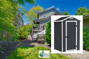 Keter Manor 4'x3′ GARDEN SHED 1.3mx1m $8.90 Shipping Australia Wide