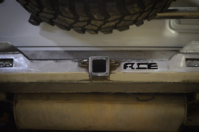 ACE JL Pro Series Rear Bumper with Tire Carrier