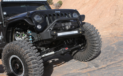 JK Bumper and LED Light Combo - Bull Bar