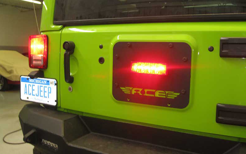 ACE JK Gate Plate with Factory Third Brake Light Provision
