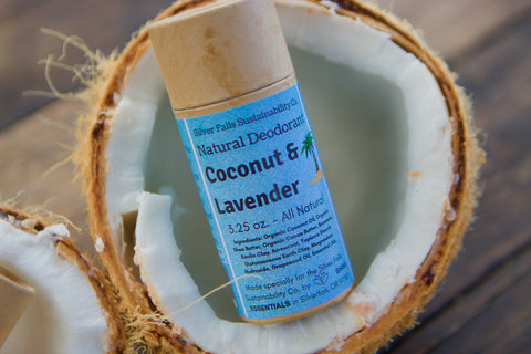 Zero-Waste Natural Deodorant in a coconut shell