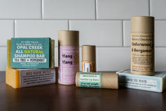 Personal care products in zero-waste packaging