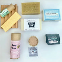 All the products in our Zero Waste Starter Pack on a table