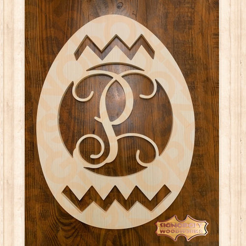 Cracked Egg Monogram 23