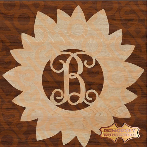 Sunflower Monogram 23