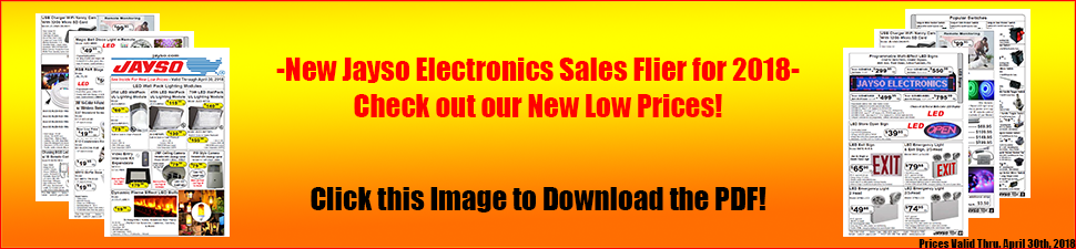 Jayso Electronics 2018 Sales Flier Download PDF