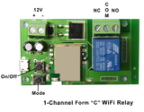 "1-Channel WiFi Controlled Relay w/ Form ""C"" Contact for Android JWIFI-1RC-Timers & Relays-Various-Jayso Electronics"