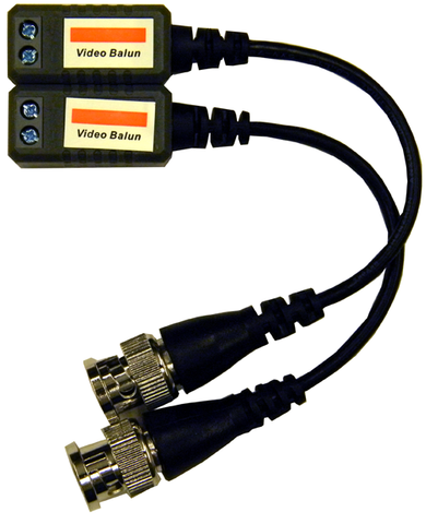 1 to 1 Video Balun - BNC to CAT5 Twisted Pair Video Adapter with Pigtails EC-VBP2P-Security Cameras & Recorders-Elyssa Corp.-Jayso Electronics