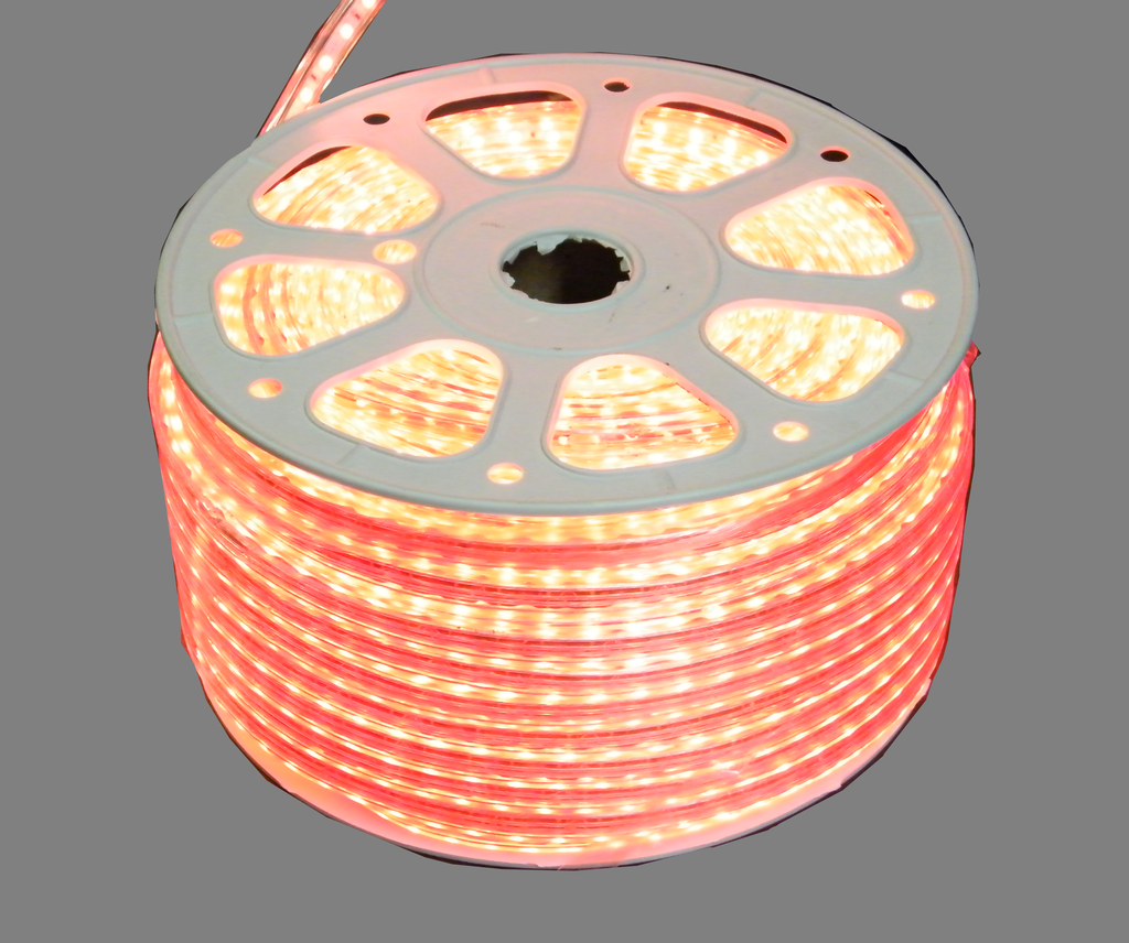 110 VAC RGB Striplight, Heavy Duty Vinyl Clad Weatherproof (50 Meter Roll) EC-SL-HDV-RGB-50-LED Lighting-EC-Jayso Electronics