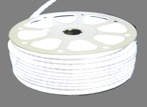 110 VAC White Striplight, Heavy Duty Vinyl Clad Weatherproof (50 Meter Roll) EC-SL-HDV-W-50-LED Lighting-EC-Jayso Electronics