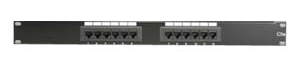 "12 Port Patch Panel, 19"" Rack Mount, Cat-6 JPP-HC6-12-Network & Computing-Various-Jayso Electronics"
