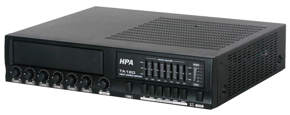 120 Watt PA Amplifier with 25, 70, & 100 Volt Output TA120-Amplifiers & PA Systems-Various-Jayso Electronics