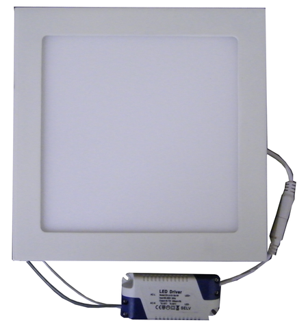 "15 Watt, 7.7"" Square Dimmable LED Panel Light with Driver EC-SPLED-15W-3000K-D-LED Lighting-Elyssa Corp.-Jayso Electronics"