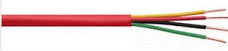 18 Ga. 4 Conductor Red FPLR Fire Alarm Cable, 1,000 Ft. Spool JFW-184-Wire & Cable-Various-Jayso Electronics