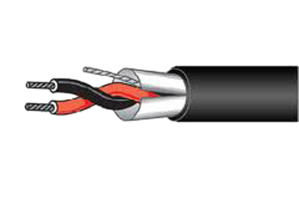 16 Gauge 2 Conductor Stranded, Shielded Cable, 500' Roll JHT-762S/500-Wire & Cable-Various-Jayso Electronics