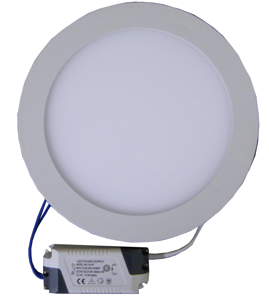 "18 Watt, 8.9"" Round Dimmable LED Panel Light with Driver EC-RPLED-18W-D-LED Lighting-Elyssa Corp.-3000°K-Jayso Electronics"