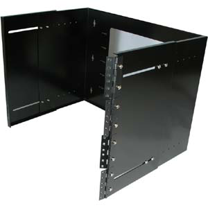 "19"" Hinged Wall Mount Rack Bracket, 8 Rack Unit, Deep, JHB-8U19-13.5-Network & Computing-Various-Jayso Electronics"