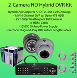 2-Camera 1080p (2MP) HD Hybrid (AHD/TVI/CVBS) DVR Kit-DVR Kit-Jayso Electronics-Jayso Electronics