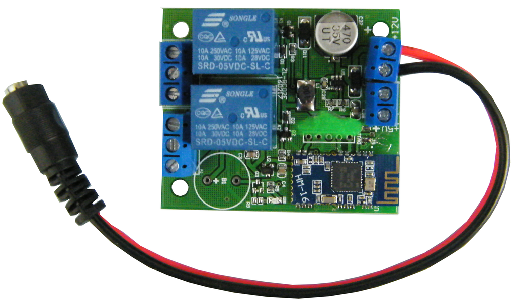 "2-Channel Bluetooth Controlled Relay w/ Form ""C"" Contact for iPhone JBT2R-I-Timers & Relays-Various-Jayso Electronics"