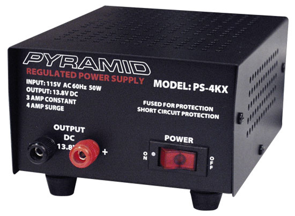 3 Amp Regulated 13.8 (12)VDC Bench/Shelf Mount Power Supply PS-4KX-Batteries, Power Supplies, & Transformers-Various-Jayso Electronics