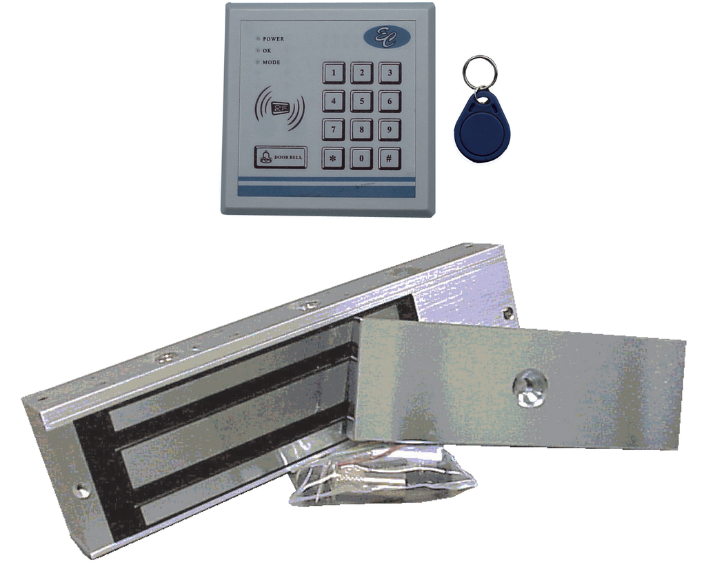 3-In-1 Entry Control Kit with Magnetic Door Lock EC-PRK1/MAG1200-Access Controls-EC-Jayso Electronics