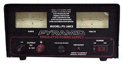 32 Amp Regulated Power Supply, 13.8 (12)VDC, Bench/Shelf Mount, Variable, Metered PS-36KX-Batteries, Power Supplies, & Transformers-Various-Jayso Electronics
