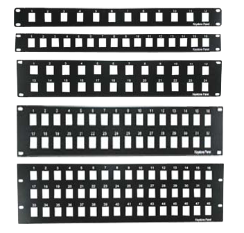 "32 Port Blank Keystone Patch Panel Plate, 19"" Rack Mount, JPP-KB-32-Network & Computing-Various-Default-Jayso Electronics"