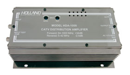 34dB Broadband Amplifier - Apartment Complex Distribution, Holland HDA-1000-Antennas-Various-Jayso Electronics