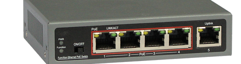 4-Port Ethernet Switch with 4-Port PoE, 10/100 Mbps JTI-PDE4-65-Computer & Accessories-Various-Jayso Electronics
