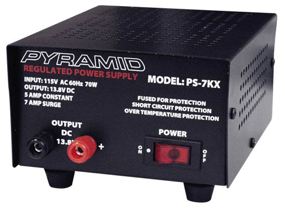 5 Amp Regulated 13.8 (12)VDC Bench/Shelf Mount Power Supply PS-7KX-Batteries, Power Supplies, & Transformers-Various-Jayso Electronics