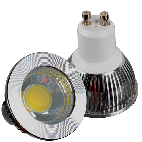 5 Watt COB LED Spotlight with GU10 Base, Silver EC-GU10LED-5W-COB-S-LED Lighting-EC-Jayso Electronics